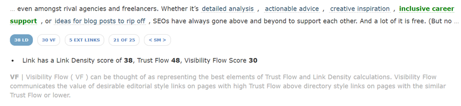 Visibility Flow (in Site Explorer)